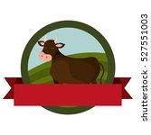 animal farm emblem with ribbon | Shutterstock .eps vector #527551003