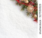 fir branch with christmas... | Shutterstock . vector #527553523