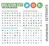 big icon set clean vector | Shutterstock .eps vector #527555473