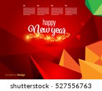 vector happy new year design  ... | Shutterstock .eps vector #527556763