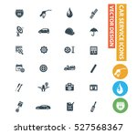 car service and repair icons... | Shutterstock .eps vector #527568367