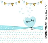 Baby Boy Shower Card With Heart
