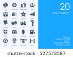 set of hollywood icons | Shutterstock .eps vector #527573587