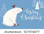 vector merry christmas greeting ...   Shutterstock .eps vector #527576077