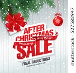 after christmas sale banner | Shutterstock .eps vector #527582947