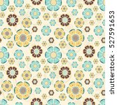floral summer pattern with... | Shutterstock .eps vector #527591653