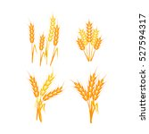 wheat ears or rice icons set.... | Shutterstock .eps vector #527594317