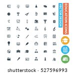 education and science icon set ... | Shutterstock .eps vector #527596993