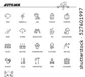 autumn flat icon set.... | Shutterstock .eps vector #527601997