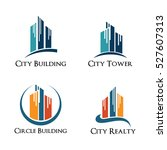 city high building tower realty ... | Shutterstock .eps vector #527607313