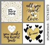 set of greeting cards for... | Shutterstock .eps vector #527613073