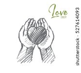 vector hand drawn love concept... | Shutterstock .eps vector #527614093