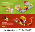 logistics isometric horizontal...   Shutterstock .eps vector #527621017