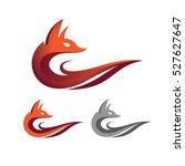 elegant fire fox symbol logo...   Shutterstock .eps vector #527627647
