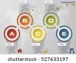 vector illustration of 5 steps... | Shutterstock .eps vector #527633197