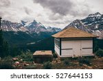 canadian shelter at yoho... | Shutterstock . vector #527644153