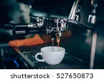 coffee in coffee shop vintage... | Shutterstock . vector #527650873