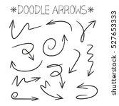 doodle arrows | Shutterstock .eps vector #527653333