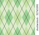 green seamless argyle pattern | Shutterstock .eps vector #52765390
