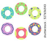 swim rings icon set isolated on ... | Shutterstock .eps vector #527656543