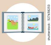 photo album vector flat design...   Shutterstock .eps vector #527658253
