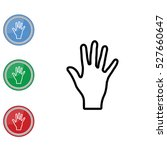 web line icon. hand  bunch of...