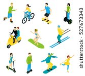 set of isometric people... | Shutterstock .eps vector #527673343
