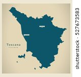 modern map   toscana it italy | Shutterstock .eps vector #527673583