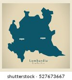 modern map   lombardia it italy | Shutterstock .eps vector #527673667