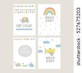 baby shower card design | Shutterstock .eps vector #527675203