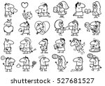 black and white cartoon...   Shutterstock .eps vector #527681527