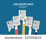applying for job  giving cv ... | Shutterstock .eps vector #527693623