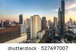 silom road located in bangkok ... | Shutterstock . vector #527697007