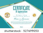 luxury certificate or diploma... | Shutterstock .eps vector #527699053