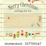 merry christmas and new year... | Shutterstock .eps vector #527705167