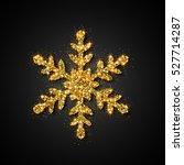 gold glitter snowflake.... | Shutterstock .eps vector #527714287