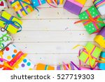 bright gifts and candles. | Shutterstock . vector #527719303