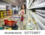 beautiful woman shopping in... | Shutterstock . vector #527723857