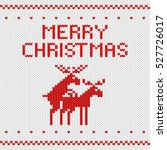 knitted white christmas... | Shutterstock .eps vector #527726017