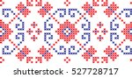 embroidered cross stitch...   Shutterstock .eps vector #527728717