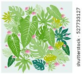 vector graphical tropical... | Shutterstock .eps vector #527733127