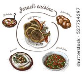 menu of israel colorful... | Shutterstock .eps vector #527734297