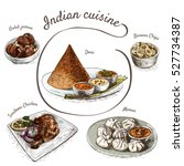 menu of indian colorful... | Shutterstock .eps vector #527734387