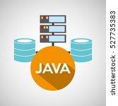 java language data base storage ...   Shutterstock .eps vector #527735383
