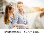 couple in love sharing emotions ... | Shutterstock . vector #527741503