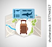 airline ticket map travel... | Shutterstock .eps vector #527744317