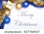 text merry christmas on paper... | Shutterstock . vector #527746927