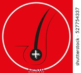 hair growth  vector icon  eps10 | Shutterstock .eps vector #527754337