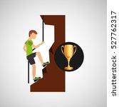 male climbing rock trophy sport ... | Shutterstock .eps vector #527762317