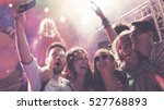 people clubbing and dancing at... | Shutterstock . vector #527768893